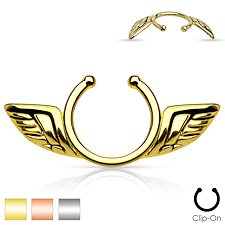 Angel Wings Non Piercing Nipple Ring Set