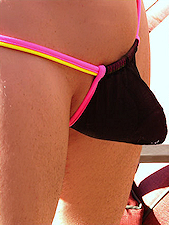 Wasp G String Black Pink Yellow
